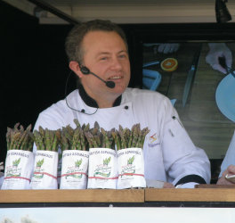 Cookery Demo at British Asparagus Festival 2012