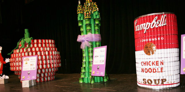 Cans use to make sculptures
