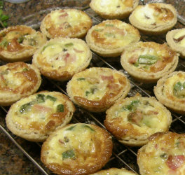 Asparagus, Bacon and Stilton Tarts