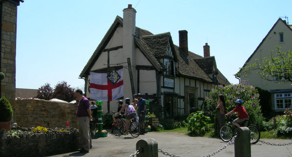 Arriving at the British Asparagus Festival 2012 by bike