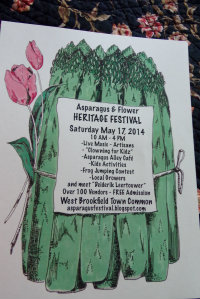 West Brookfield Asparagus Festival poster