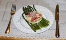 Asparagus with Goats Cheese and Bacon