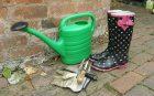 Wellies and Tools ready for the garden