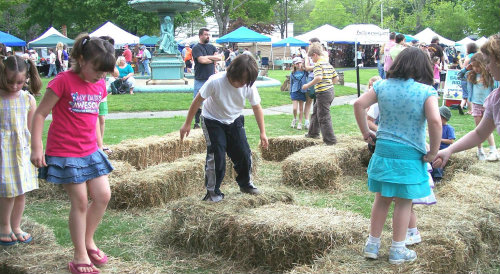 Children Playing at Asparagus Festival