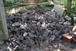 Pile of malvern stone