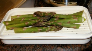 Asparagus ready to microwave