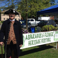 Man in period costume at asparagus festival