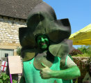 Gus the Asparagus Man looking cheery