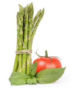 Asparagus, Tomato and Basil companion plants