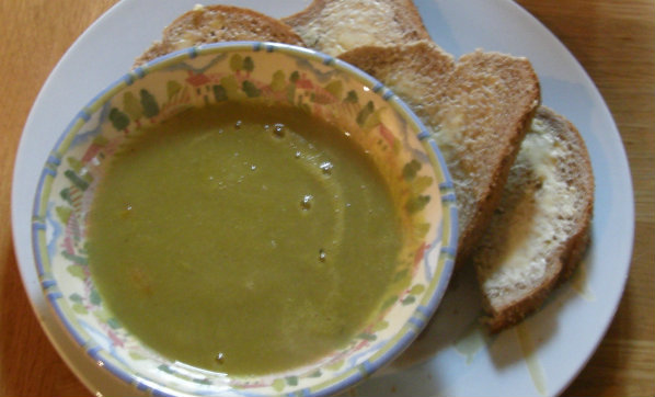 Asparagus and Left overs Soup