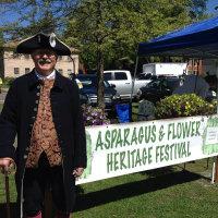 Man in period costume at asparagus festival